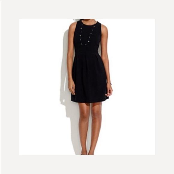 "Madewell Dresses & Skirts - Madewell-""Gallerist"" Black Cut Out Flare Dress"